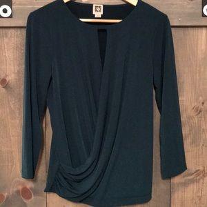 Anne Klein dark green blouse